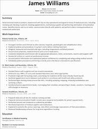 Medical Field Resume Objective Examples Templates Fresh Sample New