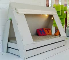 Trundle Bed for Children Creatively Closes into Private Tent with