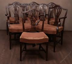 Set Of 8 19th Century Hepplewhite Dining Chairs 4 Hepplewhite Style Mahogany Yellow Floral Upholstered Ding Chairs Style Ding Table And Chairs Pair George Iii Mahogany Armchairs Antique Set Of 8 English Georgian 12 19th Century Elegant Mellow Edwardian Design Antiques World 79 Off Wood Hogan Side Chair Eight Late 18th Of