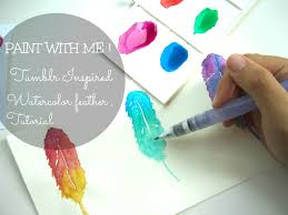 Watercolour Illustration 1 Tumblr Inspired Watercolor Tutorial For Feathers