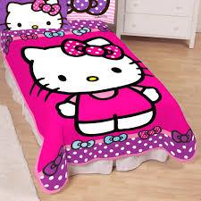 Hello Kitty Bed Set Twin by Sanrio Hello Kitty Happy Cloud Twin Blanket Blankets U0026 Throws