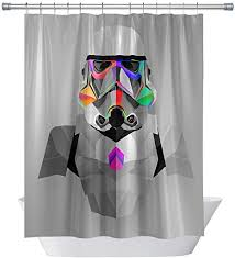 wars empire stormtroopers shower curtains abstraction decor for bathroom waterproof polyester fabric shower curtain sets with hooks 71x 71 in