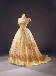 Gowns Dotted Lace Gown Waist U Civil War Wien Museum In Another Life 1800s