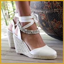 Incredible Pin By Weddingpinn On Wedding Shoes Wedges Ivory And For Beach Sandals Trend