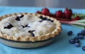 Recipe Blueberry Rhubarb Strawberry Pie