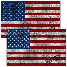American Flag Infidel Vinyl Decal Sticker USA Worn Vintgage Rustic