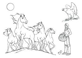 Coloring Pages Horses Running Realistic Horse Page Download Print Shoes Head