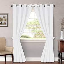 HVERSAILTEX Pure White Curtains Sliding Door Window Treatment Modern Design Grommet Curtain Panels Dining