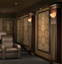 acoustic wall panels acoustic wall and home theaters on