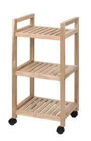 wenko rollregal 3 etagen acina rollwagen küchen regal badezimmer regal auf rollen fsc zertifiziert