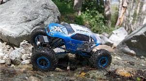 ECX 1/18 Temper 4WD Rock Crawler Brushed RTR, Blue/White | Horizon Hobby