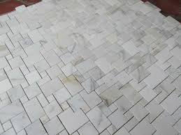 the high end corrara white marble mosaic herringbone mosaic tiles