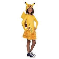 Spirit Halloween Canada Careers by Pokemon Girls Pikachu Hoodie Dress Small Walmart Com