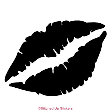 Kissing Lips Sticker Stitched Up Stickers
