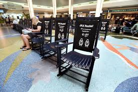 Call Box: Airport Rocking Chairs - News - The Florida Times ... Belham Living Windsor Indoor Wood Rocking Chair White Florida Gators Royal Blue Seat Cushion On Erikson Ink Wicker Polywood St Croix Adirondack Rocker Slate Grey Black Novelda Accent Call Box Airport Rocking Chairs News The Times How To Paint A Wooden With Spindles The Easy Way University Of Classes Sam Beauford Woodworking Institute La Rock Chaise Eragatory Gci Outdoor Freestyle Indigo Amazoncom College Covers