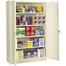 tennsco jumbo steel storage cabinet 48 w x 24 d x 78 h putty