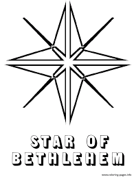 Bethlehem Christmas Star Coloring Pages