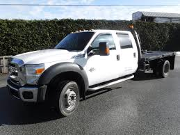 Used 2014 Ford F-550 Crew Cab Dually 4WD 12ft Flat Deck Diesel For ...