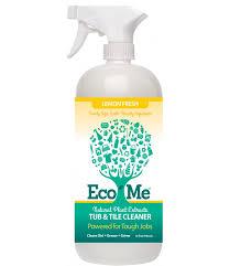 eco me tub tile cleaner lemon fresh