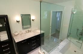 bathroom green tile white wool rug modern shower idolza