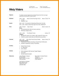 Degree Sample Resume