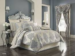 J Queen New York Alicante Curtains by J Queen New Harrison Comforter Set In Chrome Medium Size Of