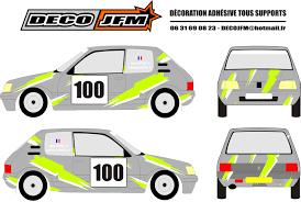 deco voiture de rallye deco jfm décoration adhésive tous supports