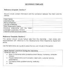 Reference Page Format Resume Professional References Letter Template Pdf For Sample Of