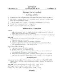 Resume For Cook Sample Of A Restaurant