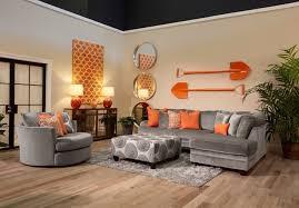 Orange And Grey Living Room Pinterest Orange Living Room Design