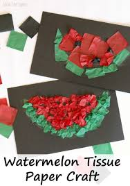 Watermelon Tissue Craft For Kids