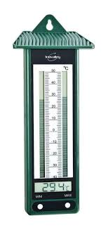 thermometre maxima minima exterieur thermomètre électronique mini maxi vert 6107 jardin piscine