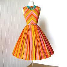 vintage 1960 u0027s dress tutti fruitti gibson chevron sorbet