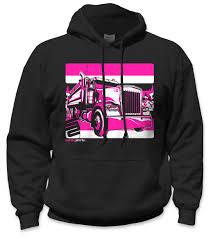 100 Pink Dump Truck SafetyShirtz Safety Hoodie Black Safetyshirtz
