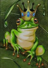 Melody Lea Lambs Art Frog Prince Three ACEO Miniature Painting