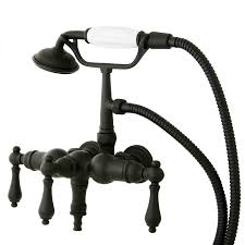Wall Mounted Bathroom Faucets Oil Rubbed Bronze by Shop Kingston Brass Clawfoot Oil Rubbed Bronze 3 Handle Fixed Wall