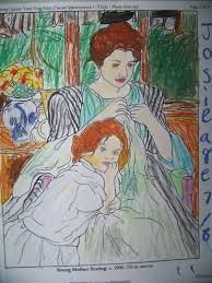 Mary Cassatt Coloring Page