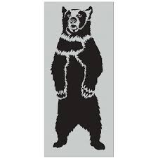 Stencil1 7 Ft Grizzly Bear Stencil S1 01 GBL