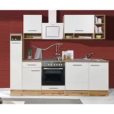respekta küchenzeile bekb250ewc 250 cm weiß wildeiche nachbildung