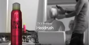 Bed Head Headrush by Produtinhos No Cabelo Tudo Sobre Cabelos Spray De Brilho Bed