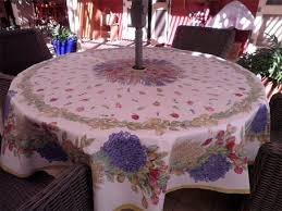 Outdoor Tablecloth With Umbrella Hole Uk by Round And Square Tablecloths