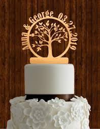 Wooden Wedding Cake Toppers Nz Tree Of Life Topper Custom