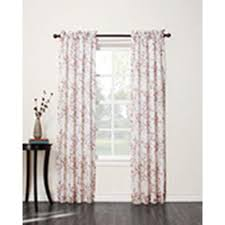 jaclyn smith blossom lined sheer window panel