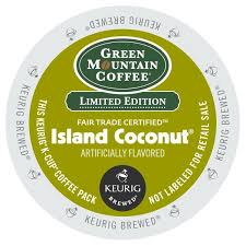 Green Mountain Coffee Island Coconut K Cups For Keurig Brewers