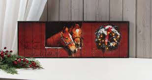 Raz Christmas Trees Wholesale by Horse Stable With Lighted Christmas Wreath Picture Item 38989