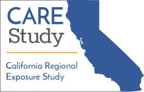 CARE Study Logo Showing California In Outline With Words Regional Exposure