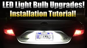 led license plate bulb upgrade installation tutorial 2015