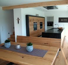 küche mit eßzimmer küche tisch holzküche offenes