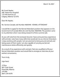 Ideas Of Cover Letter Sample For Kennel Assistant Example A Job