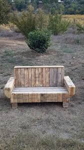 DIY Sofa Styled Pallet Outdoor Bench Via 1001pallets